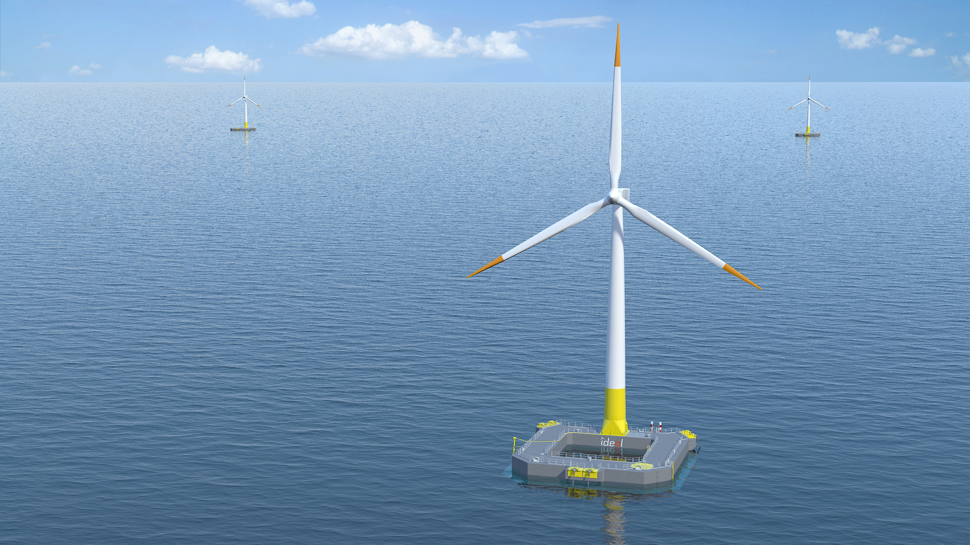 Ideol's floating wind technology