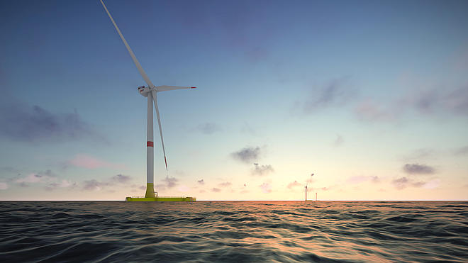 Eolmed pilot projet floating wind farm